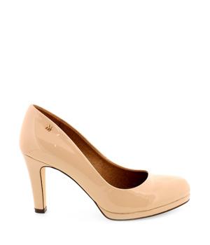 ➤ Béžové nižší lesklé lodičky MARIA MARE - Levná i značková obuv 631fb4c4f0