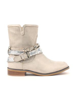 867cdaf370b ➤ Šedé letní kozačky s páskem H3 shoes - Levná i značková obuv