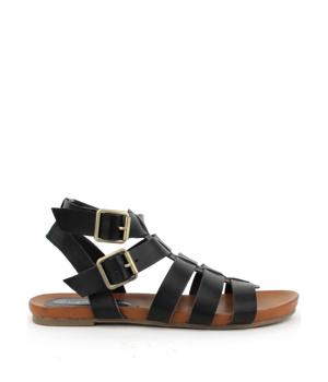 7dd7ea62a1c2 ➤ Gladiátorky Claudia Ghizzani v černé barvě - Levná i značková obuv