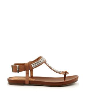 0187ad64a029 ➤ Letní sandály Claudia Ghizzani v hnědé - Levná i značková obuv