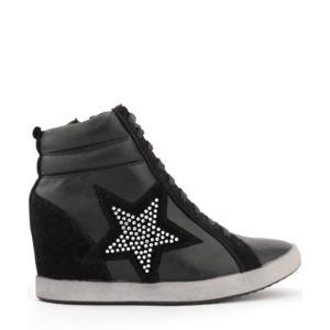 ➤ Černé boty na klínku - Levná i značková obuv 9c3d03c584