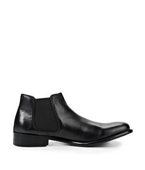 ➤ Černé pánské kožené kotníkové boty Paolo Vandini - Levná i ... 893604b129