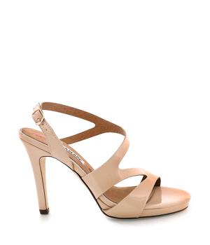 dccb58b2901 ➤ Béžové sandály na podpatku MARIA MARE - Levná i značková obuv
