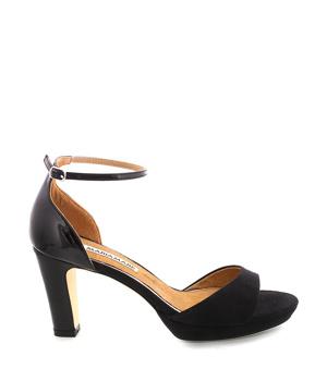 2f4b0ff22802 ➤ Černé sandály na podpatku s páskem MARIA MARE - Levná i značková obuv