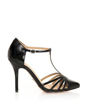 7e65120fcf12 ➤ Černé sandály na jehlovém podpatku MARIA MARE - Levná i značková obuv