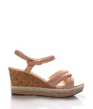 b5ea0249eb8 ➤ Letní sandály na korkové platformě Monshoe - Levná i značková obuv