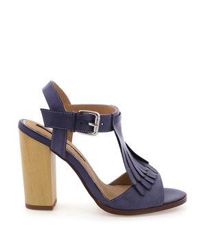 6844f95b015a ➤ Modré sandály s trásněmi na podpatku MARIA MARE - Levná i ...